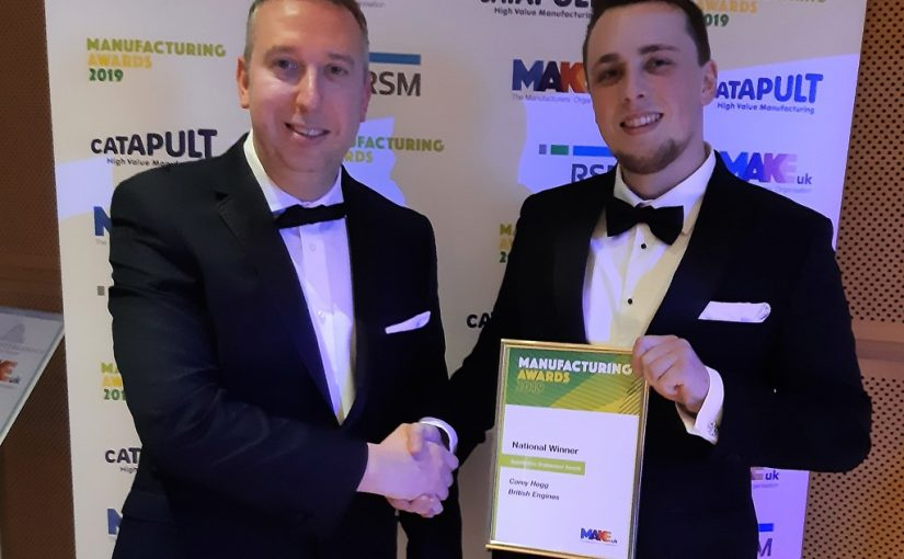 Michell Bearings Apprentice wins National Make UK Manufacturing Award