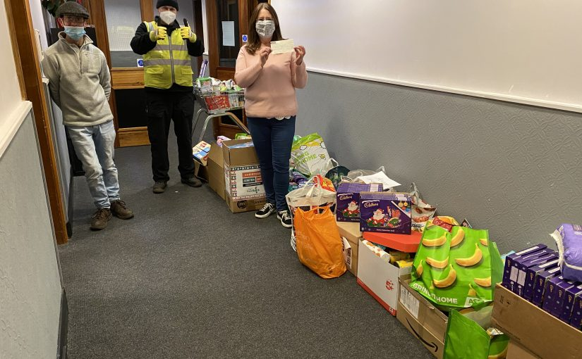 Michell Bearings employees donate to local foodbanks